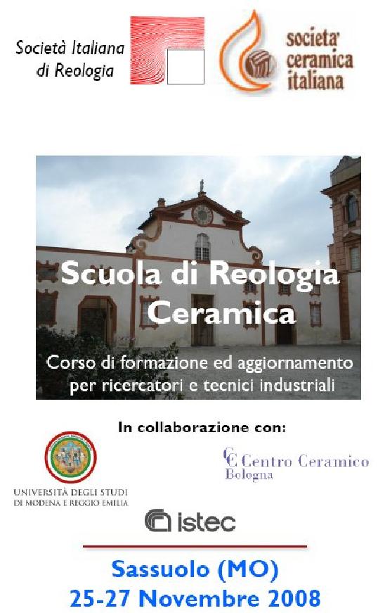Resoconto sulla Scuola di Reologia Ceramica - Panta Rei